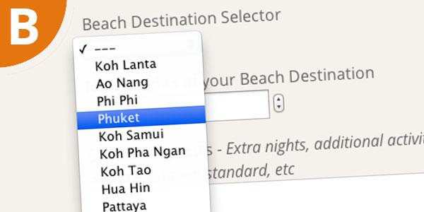 b beach options
