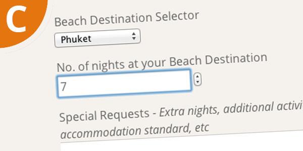 c beach options