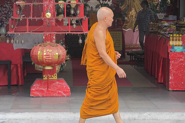 Buddhist monk in Chinatown