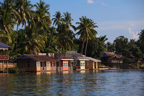 Houses on the Mekong