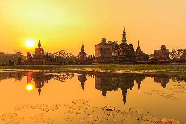 Sukhothai Historical Park; Sunset