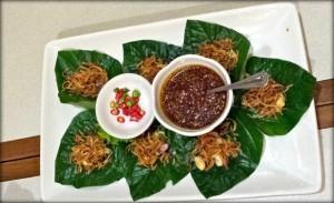 Miang Miang Khumh kham Thai food cabbages condoms