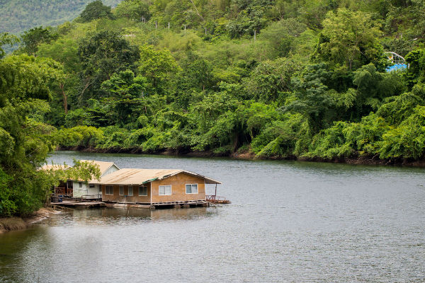 Floating Bungalows on the River Kwai